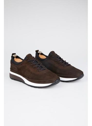 Tripy Hakiki Deri Sneakers Kahve